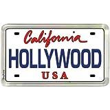 Hollywood California de placa de matrícula frigorífico pequeño de coleccionista acrílico de recuerdo ...