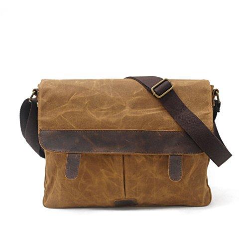 Neue, Retro, Weise, Kameratasche Handtasche Freien, die Plane, Handtasche, Tasche, wasserdicht, B0101 (Case Leather Targus Notebook)