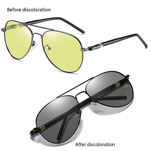 B&H-ERX UV400 Der Männer Der Frauen Polarisierte Photochromatische Sonnenbrille Im Freien, Die Fischen-Übergangs-Chamäleon-Objektiv Fährt,B