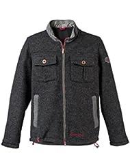 Ciclismo chaqueta para hombre miniajedrez almgwand tubo, color Gris - gris antracita, tamaño 50