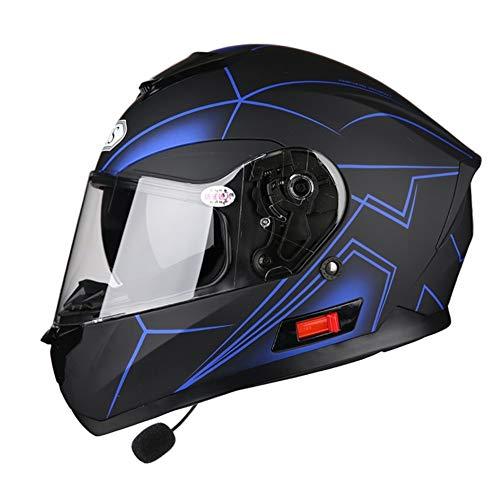 Casco-Moto-Con-Bluetooth-Modulare-Flip-Up-Visiere-E-Duplici-Adulti-Casco-Di-Sicurezza-Interno-Staccabile-Con-Bavaglino