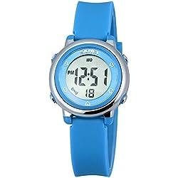 Zeiger Kinderuhr Jungen Mädchen Uhr Sport Armbanduhr 6-Farbe-Licht Datum Chronograph KW028