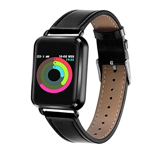TianranRT★ Q3 Smart Watch Impermeabile Con Contaimpulsi Ossigeno Con Pedometro Sport Smartwatch (Nero)