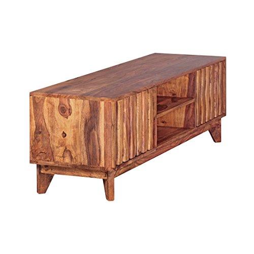 FineBuy Lowboard Massivholz Sheesham Kommode TV-Board Landhaus-Stil Echtholz - 4
