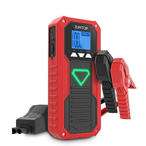 JUMTOP Avviatore Auto Portatile 2000A Picco 14400mah Booster Batteria (8.0L Gas And 6.0L Diesel) Power Starter Jump Starter Banca e Telefono con Doppia Porta Smart USB LED