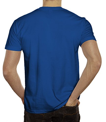 Pizza Nerd Herren T-Shirt mit Pizza Is Always The Answer Motiv von ShirtStreet Royal Blau