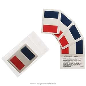 Frankreich Tattoo Fahne 5er Fan Set – WM Fanartikel 2014 – France Flag