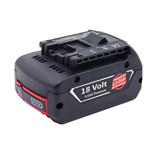Forrat 18V 4000mAh Li-ion Batterie de Replacement pour Bosch 1600A002U5 BAT621 BAT609 BAT609G BAT610G BAT618G BAT618 BAT619 BAT619G BAT620