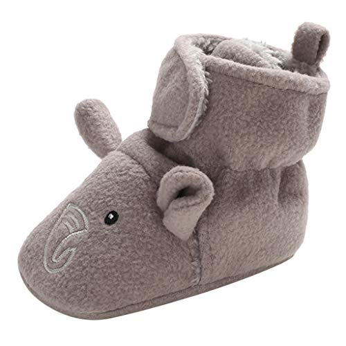 Jaysis Karikatur Baumwolle Schuhe Lauflernschuhe Baby Weiche Sohle Kugelsicherer Krippe Enfants Schuhe rutschfest Turnschuhe Ultraleicht Hallenschuhe(0~15 Monate) Knot Wedge Sandal