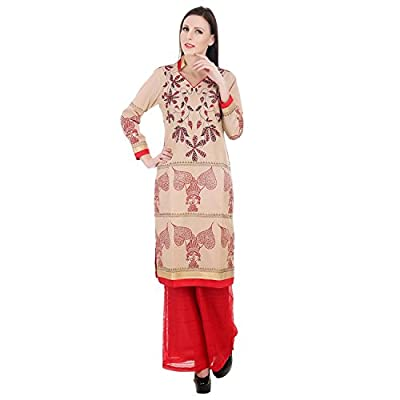 Devaleena Creations PaanBibi Kurta- kantha Revival Embroidered kurta-Net Pallazzo Bottom for Girls