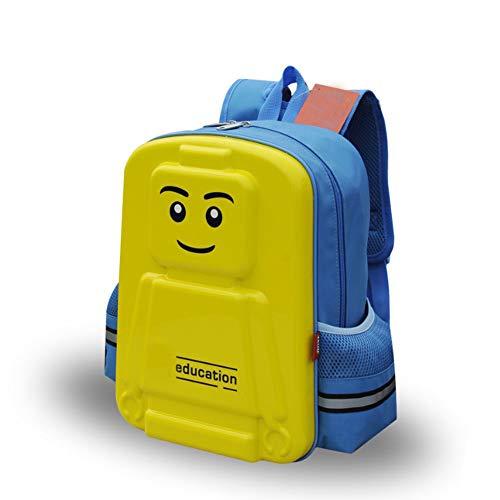 Aiya School Bags for Teens Girls Boys Cute Kids Book Bag School Backpack Handtasche Purse Lightweight Waterproof Canvas Versatile Backpack Available In Three Colors,BlueandYellow (Cute Teen Boy)