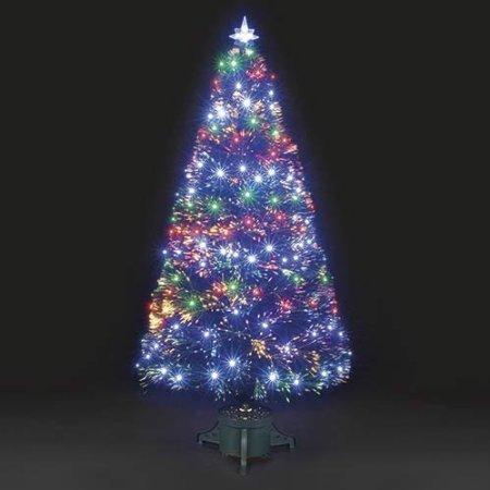 QUANTUM GREEN FIBRE OPTIC TREE WITH MULTI COLOURED LEDS (150CM)