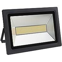Solla® Foco proyector LED 200W para exteriores, blanco diurno 6000K, 17600lm, resistente al agua IP65, luz amplia, luz de seguridad