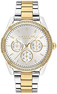 Coach Women's Silver White Dial Two Tone Stainless Steel Watch - 1450