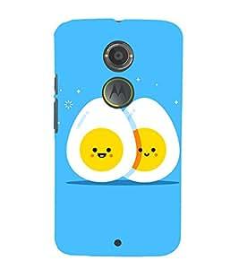 Egg Design 3D Hard Polycarbonate Designer Back Case Cover for Motorola Moto X2 :: Motorola Moto X (2nd Gen)