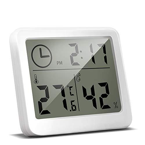 Yojetsing Digitales Thermo-Hygrometer Thermometer Raumklimakontrolle Luftfeuchtigkeitsmesser gut lesbar Thermometer digital für Innenräume