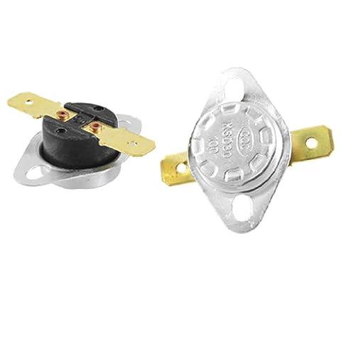 Sourcingmap 2Pcs Gold Ton Terminals Temperatur Control Switch Thermostat 100C NC (Termostato Di Sicurezza)