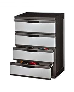 Polypropylene 4 drawer cabinet