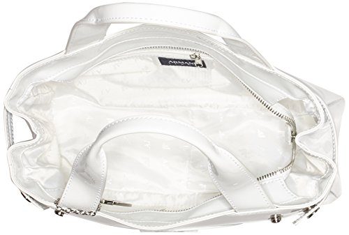 Armani Jeans 922526CC855, Borsa con Maniglia Donna Bianco (Bianco 00010)