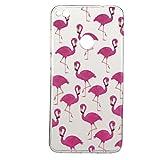 Huawei P8 Lite 2017/Honor 8 Lite hülle,Huawei P8 Lite 2017/Honor 8 Lite Case, Cozy Hut Kratzfeste Plating TPU Silicone Case Schutzhülle Ultra Dünn Tasche für mit Huawei P8 Lite 2017/Honor 8 Lite Hülle Case Transparent - Flamingos