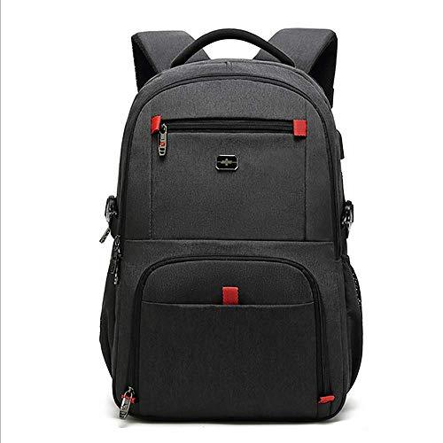 d1a2ab6ca4 HCC& USB Zaino di Ricarica, Multifunzione Antifurto Alta capacità  Impermeabile Travel Daypack Regalo per Studenti