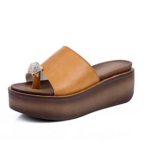 pengweiI sandali di estate dei pattini delle signore calzano i pattini di sandalo spesso dello loquat 1