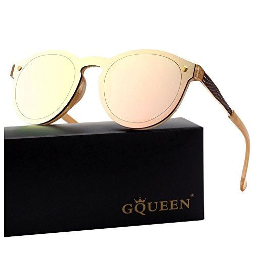 5c56b00e31 GQUEEN Futurista sin reborde protector de lente reflejado gafas de sol MEO5