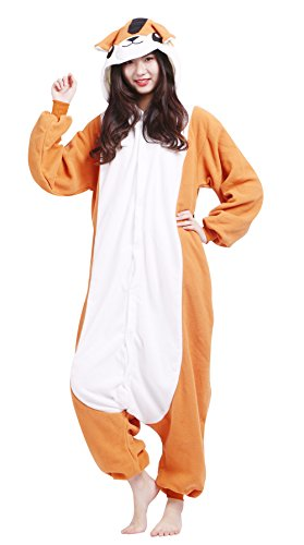 Männer Damen Pyjama Kostüm Overall Plüschoverall Tier Verkleidung für Erwachsene Streifenhörnchen (Party Animal Kostüm Gruppe)