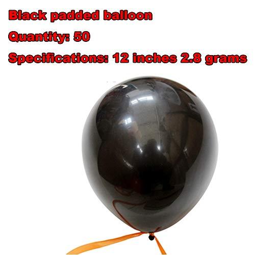 FreF 50 Stück Halloween Luftballons Schwarz Orange Ballons mit Schwarz Luftballon für Halloween Party Deko - Ein Von Einer Art Kostüm Zum Verkauf