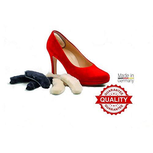 Lambtec Fersenschutz Fersenpolster Fußpflege Schuheinlage Fersen selbstklebend komfort (schwarz/natur) Anti Slip Naturprodukt Schuhe -