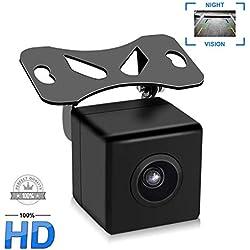 Caméra de Voiture Recul Uzone 170°Angle Caméra Arrière Rétroviseur Plaque d'immatriculation Étanche pour Dashcam Système d'aide au Stationnement