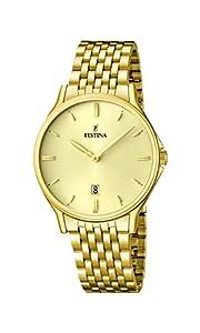 Festina F16746/2 - Reloj de pulsera hombre, acero inoxidable chapado, color dorado de Festina