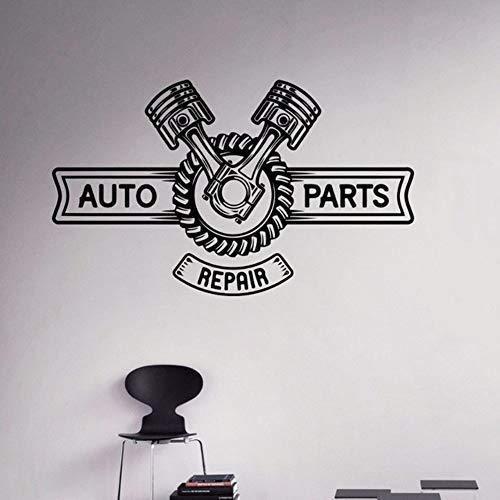 aratur Wandtattoo Motor Maschine Vinyl Wandaufkleber Wandhaupt Innen Garage Room Decor Schlafzimmer Dekoration 42 * 70 Cm ()