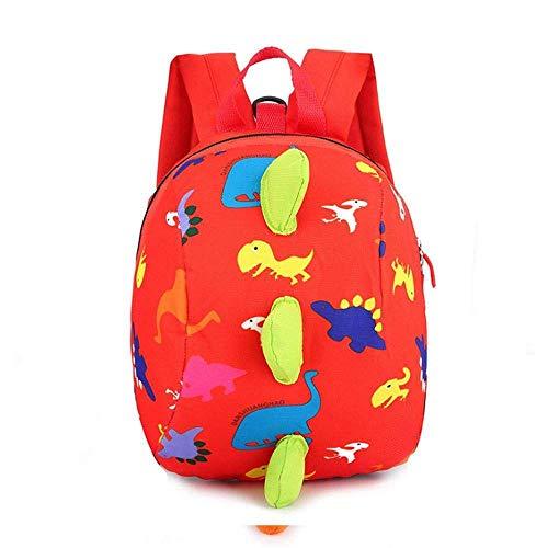 Cartoon Dinosaurier Vorschultasche, süße Schule Snack Mittagessen Reisetasche, vorbereitet für Jungen und Mädchen im Vorschulalter,orange