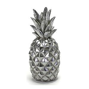 Bada Bing Deko Ananas Pineapple Silber Optik Vintage Skulptur Dekofigur Trend Neu 30