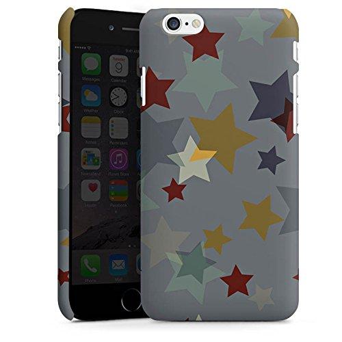 Apple iPhone 6 Plus Silikon Hülle Case Schutzhülle Sterne Muster Nacht Premium Case matt