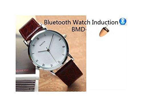 Premium® Bluetooth Classic Watch & Invisible Hörmuschel Spy Kit Mechanische Armbanduhr mit verstecktem Micro kabelloser Kopfhörer Empfänger Student betrügen Copy Prüfung Test-GSM-Telefon Unterstützung für Covert Kommunikation