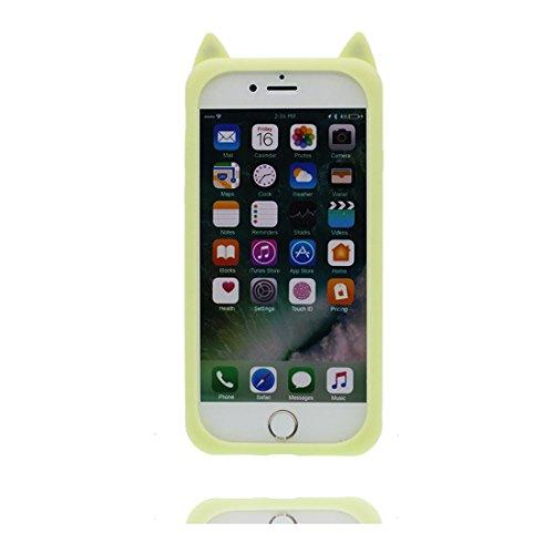 """Coque iPhone 7 Cover Cartoon 3D cactus fleur, TPU Flexible Durable Shock Dust Resistant iPhone 7 Étui iPhone 7 Case 4.7"""" # 6"""