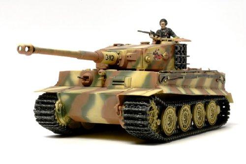 Tamiya 300032575 - modellino di carro armato tedesco tiger i, tarda produzione