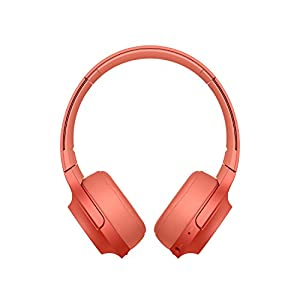 Sony WH-H800 h.ear Series Wireless On-Ear High Resolution Headphones with 24 Hours Battery Life - Red