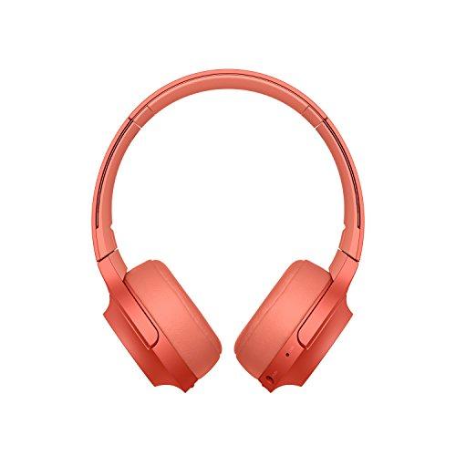 Sony WH-H800 Kabelloser High-Resolution Kopfhörer (Bluetooth, Headset-Funktion, bis zu 24 Stunden Akkulaufzeit, faltbar) Rot