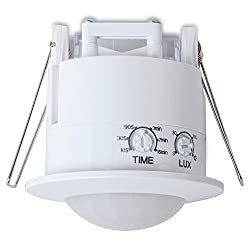 sonero IMS070 Deckeneinbau-Bewegungsmelder - Innenmontage zum Deckeneinbau, weiß, Schutzklasse: IP20, 360° / 6m Arbeitsfeld