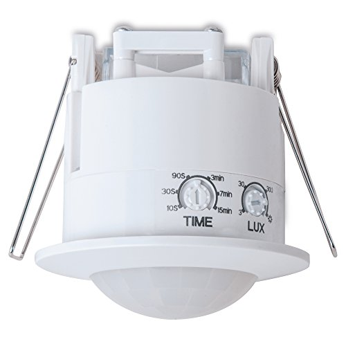 sonero IMS070Infrarot Bewegungsmelder für Unterbaumontage, Erfassungswinkel 360°, Innenraummontage, weiß