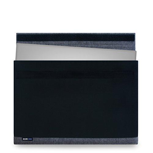 Adore June 13,3 Zoll Hülle [Serie Bold] Speziell für Dell XPS 13 2018 2017 Sleeve Tasche aus elegantem Baumwoll-Canvas Dell XPS 13 Touch / Non-Touch / 2-in-1 2015-2018 Case [Schwarz]
