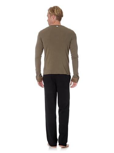 Schiesser Revival Herren Shirt langer Arm Benno 129856 Khaki