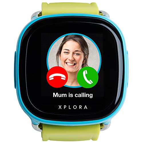 XPLORA – Telefonuhr für Kinder – Telefonieren, Mitteilungen senden und empfangen, Ruhezeiten, Sicherheitszonen, SOS, GPS-Ortung, Kalender (BLAU SIM-Free) - 3