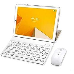 Tablette Tactile 10 Pouces 4G WiFi 32Go, 3Go de RAM avec Dual SIM Android 8.1 Quad Core et Écran HD 1280x800 Double Caméra, Bluetooth/GPS/OTG - Or
