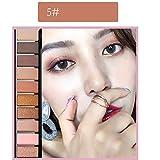 Jaminy 10 Shade Eyeshadow Palette Lidschatten-Palette Beauty TY Mattschimmer Pigmentierte Lidschatten Pulver (E)