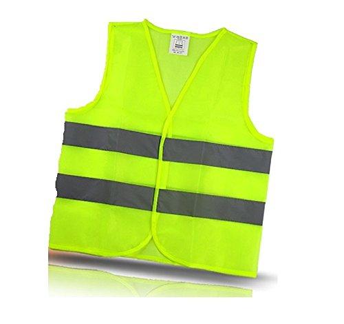 Preisvergleich Produktbild Warnweste Sicherheitsweste mit Klettverschluss in Unigröße EN 471, Gelb, waschbar (1)