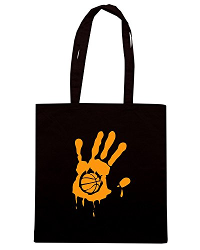 T-Shirtshock - Borsa Shopping SP0028 Basketball Hand Maglietta Nero